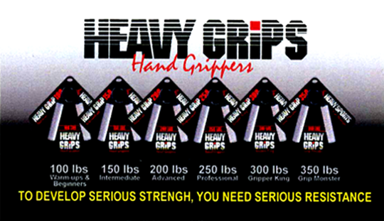 Business Card for heavy grips hand grippers