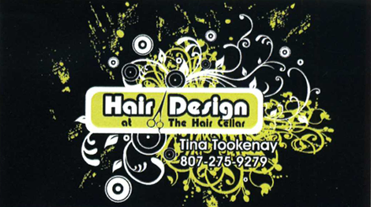 Business Card for hair design at the Hair Cellar