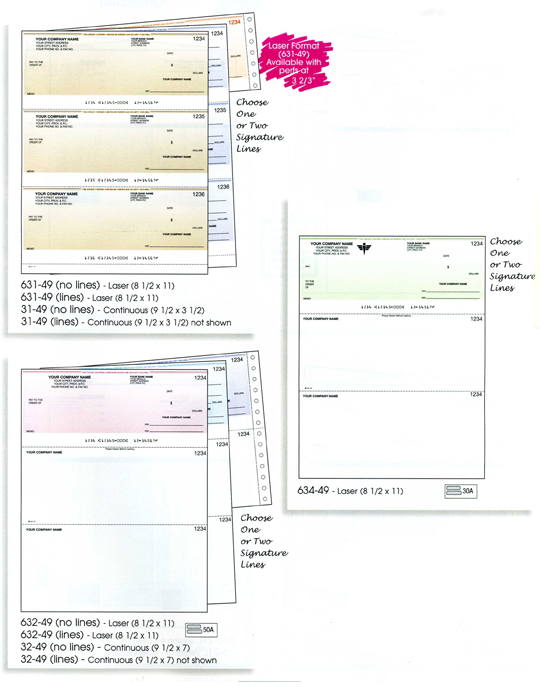 Examples of cheques