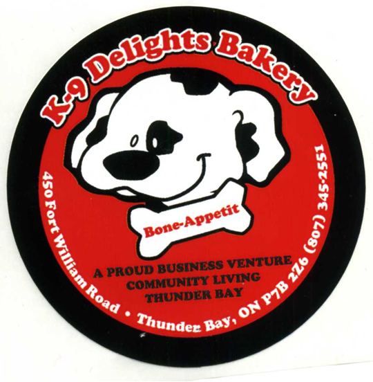 Sticker for K-9 Delights Bakery