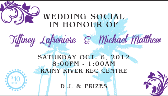 Example of Wedding Social ticket
